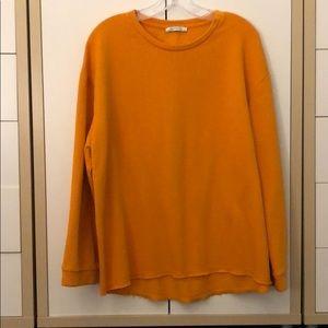 Zara sunflower yellow sweatshirt size l